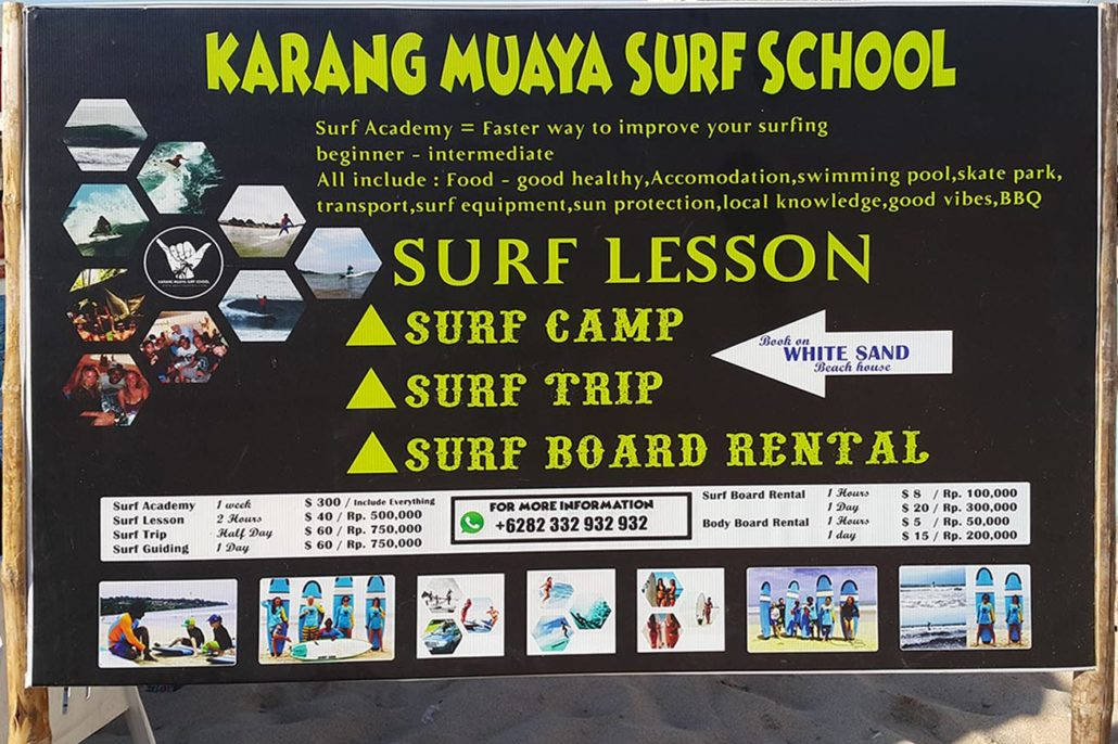 Karang Muaya Surf School @ White Sands Beach House Bali