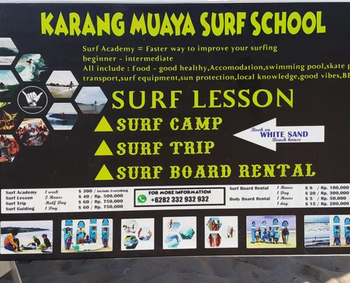 Karang Muaya Surf School @ White Sands Beach House